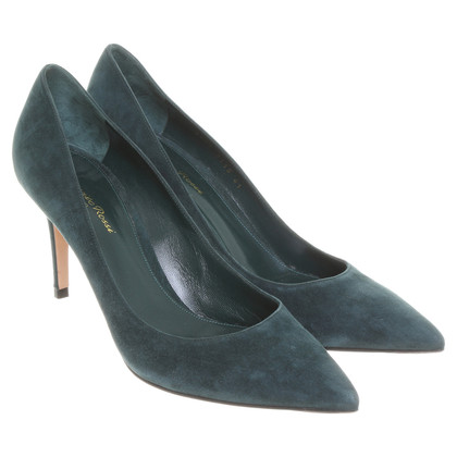 Gianvito Rossi Wildlederpumps in Tannengrün