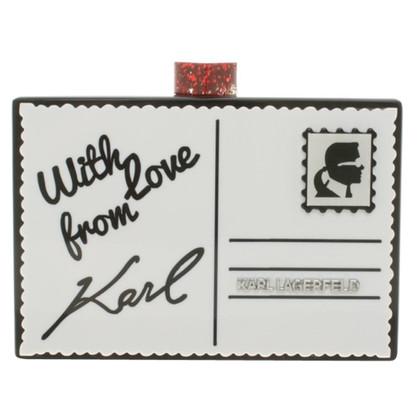 Karl Lagerfeld clutch dans l'optique d'enveloppe
