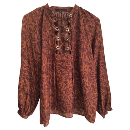Gucci Silk blouse with lace
