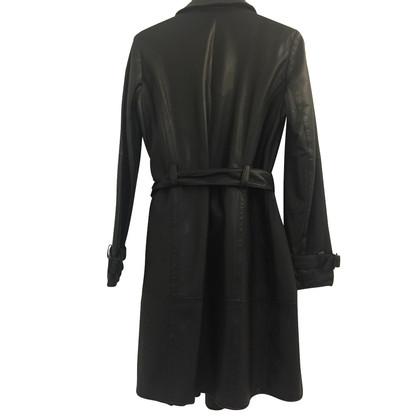 Armani Leather Trenchcoat