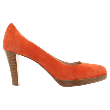 Konstantin Starke Wild leather pumps in coral red