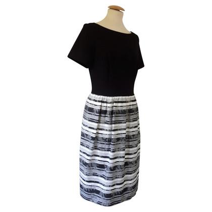 Escada Dress with stripe pattern