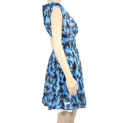 Reiss Seidenkleid in Blau