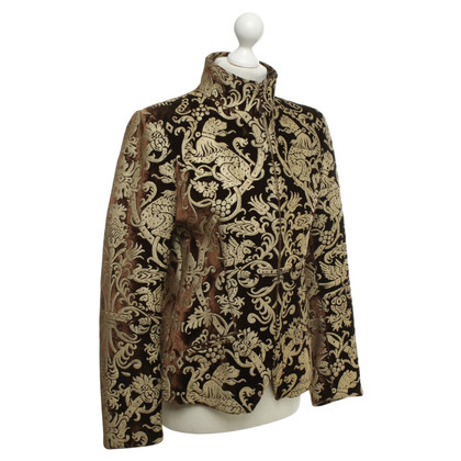 Roberto Cavalli Velvet jacket in brown / gold
