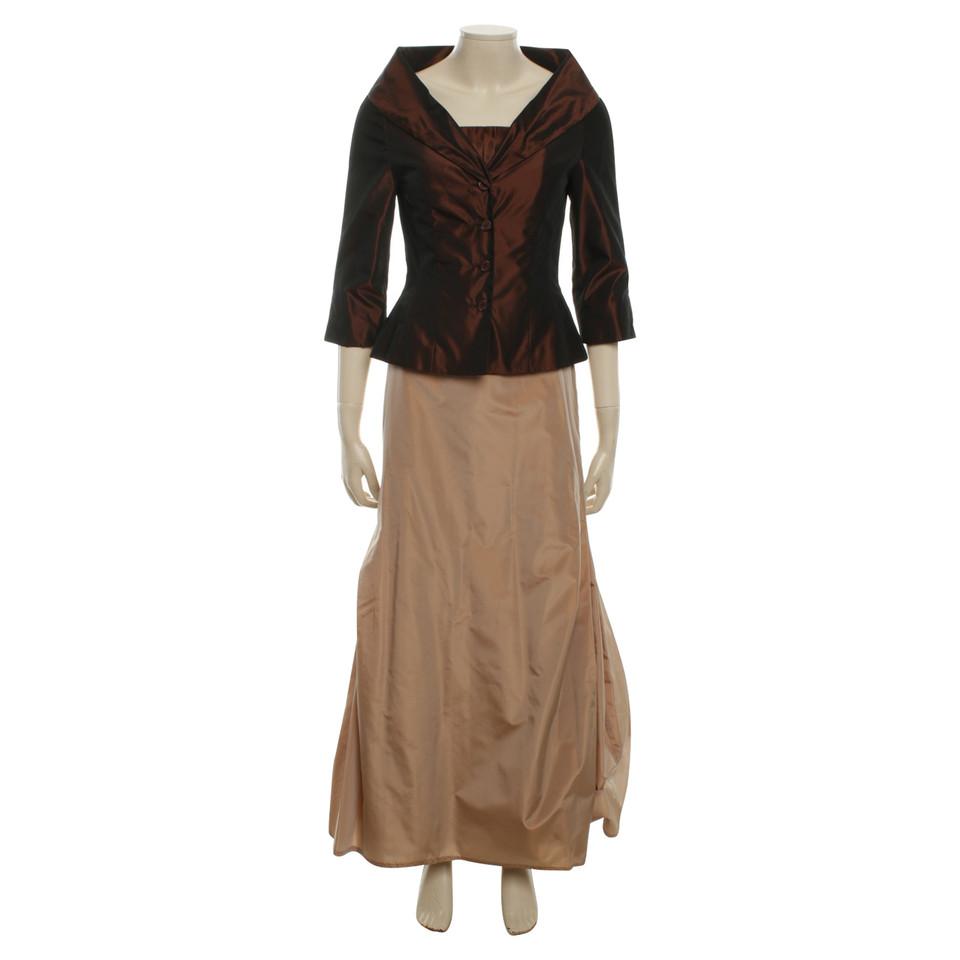 barbara schwarzer robe de soir e brown beige acheter. Black Bedroom Furniture Sets. Home Design Ideas