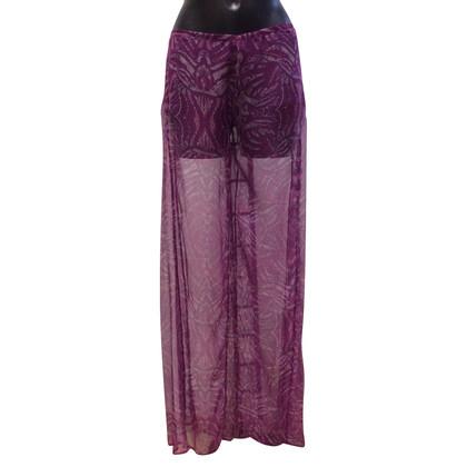 Richmond Zijden broek met patroon