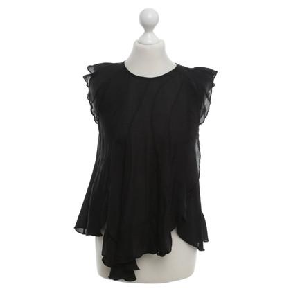 Isabel Marant camicetta di seta in nero