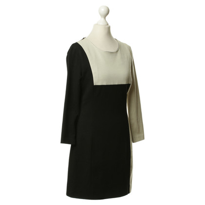 Drykorn Sheath dress in black/beige