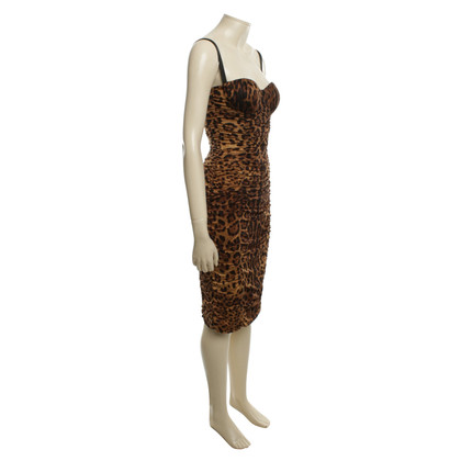 Dolce & Gabbana Corsage dress with animal print