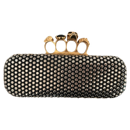 Alexander McQueen clutch Knucklebox with studs