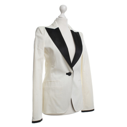 Just Cavalli for H&M Blazer in Creme/Schwarz