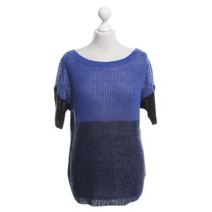 J. Crew Pullover in Blau-Violett/Schwarz