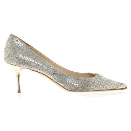 Jimmy Choo zilverachtige pumps