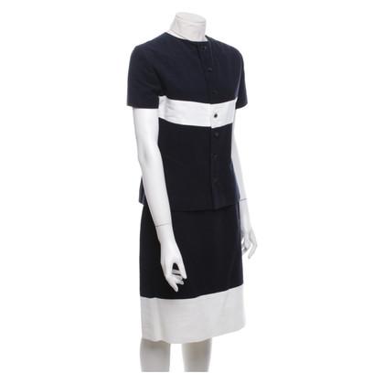 Chanel Costume con strisce bianche