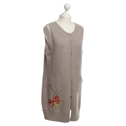 FTC Cashmere vest with embroidery