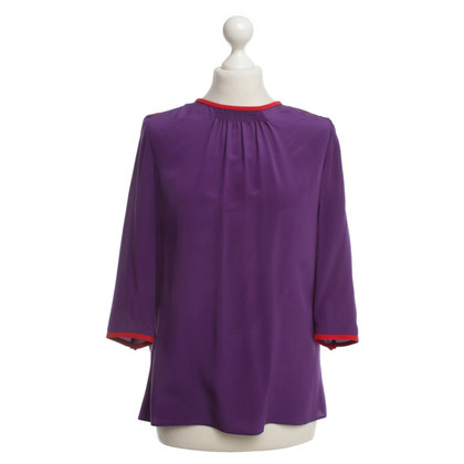 Prada Silk blouse with red details