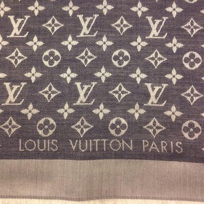 Louis Vuitton Panno denim Monogram in blu