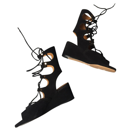 Chloé Chloé lace-up wedges