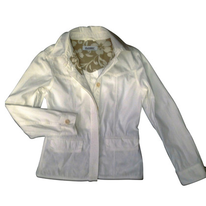Closed Cotton jacket in white