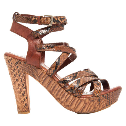 Lanvin Leather Sandals Python
