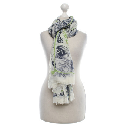 Friendly Hunting Scarf with motif print