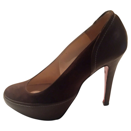 Christian Louboutin Braune Wildleder-Pumps