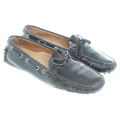 Car Shoe Patent leather slipper