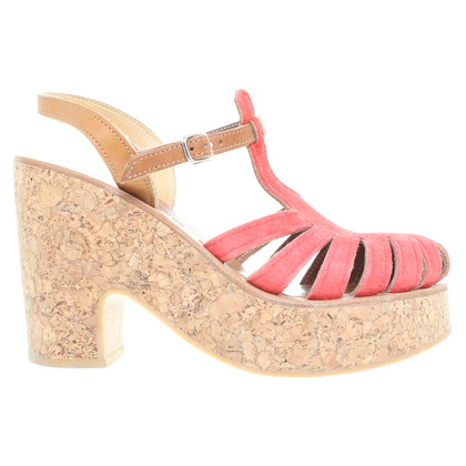 K Jacques  Sandals in coral red