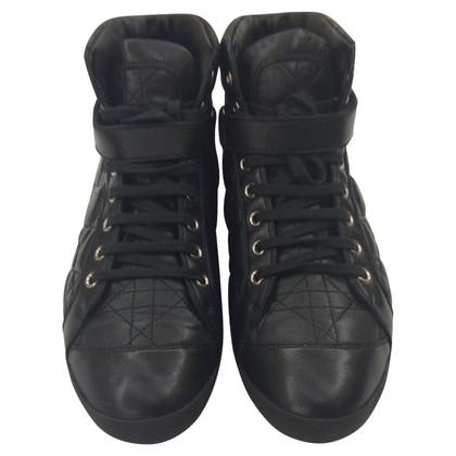 Christian Dior Hoge zwarte sneakers