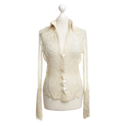 Richmond Transparante blouse in beige