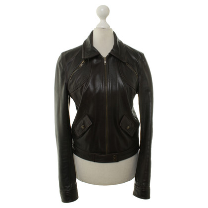 Michael Kors Leather jacket in dark brown