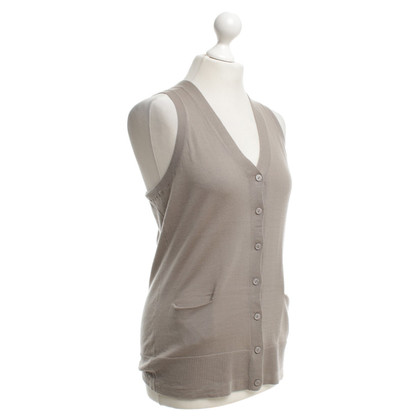 Bruno Manetti Knitted vest in taupe