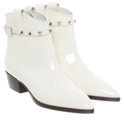 Valentino Patent ankle boots with studs