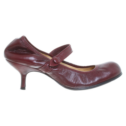 Lanvin Bordeauxfarbene Pumps