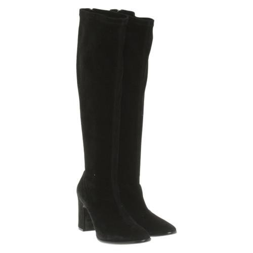 save off latest exclusive shoes Balenciaga Bottes en Daim en Noir - Acheter Balenciaga ...