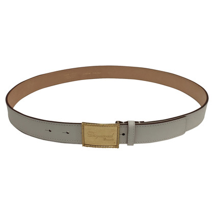 Dsquared2 White leather belt