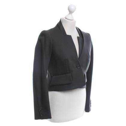 Céline giacca corta in grigio-marrone