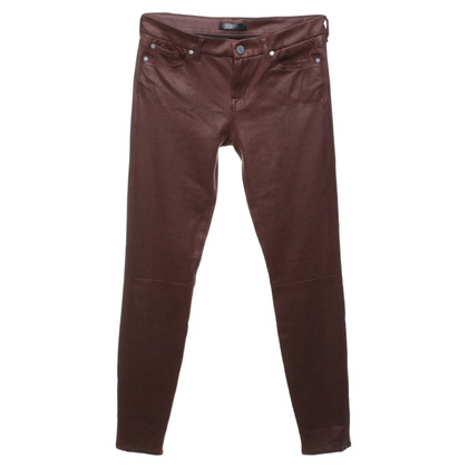 7 For All Mankind Skinny Jeans in Wildleder-Optik