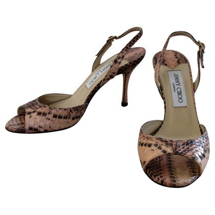 Jimmy Choo Python leather sandals