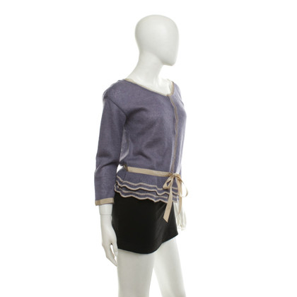 Alberta Ferretti Cardigan in purple / beige
