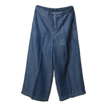 Set Weite Jeans in Blau