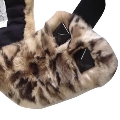 Max Mara Rabbit fur collar