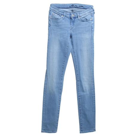 7 For All Mankind Jeans in Hellblau Blau