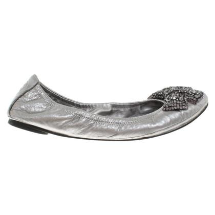 Tory Burch Ballerine in argento