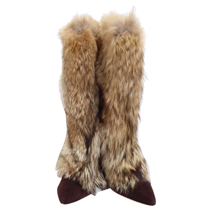 Oscar de la Renta Boots with fur (fox)