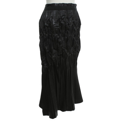 Issey Miyake Pleated-skirt in black