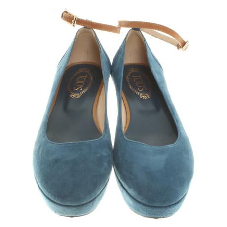 2018 Neu Zu Verkaufen Günstig Kaufen 2018 Neueste Tod's Ballerinas mit Plateau Blau Große Diskont Online Discount Versandkosten Frei bth5ERWADG