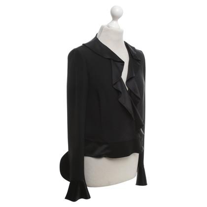 Rena Lange camicetta di seta in nero