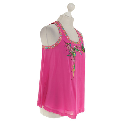 Matthew Williamson for H&M Silk top in pink / multicolor