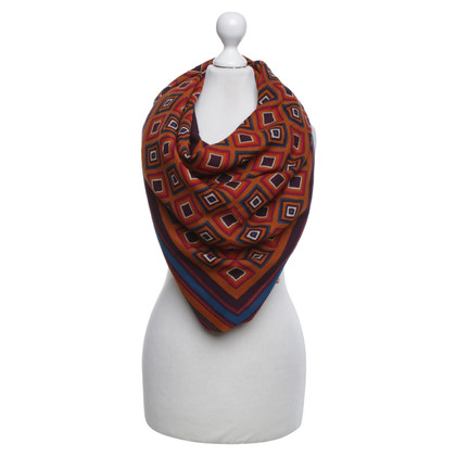 Yves Saint Laurent Multicolored scarf with fringes